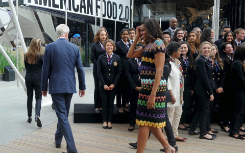 Michelle Obama At The Milan Expo 2015